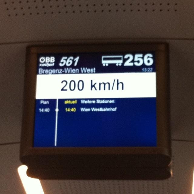 Maximalgeschwindigkeit ÖBB