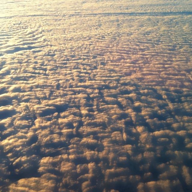 Wolken von oben betrachtet