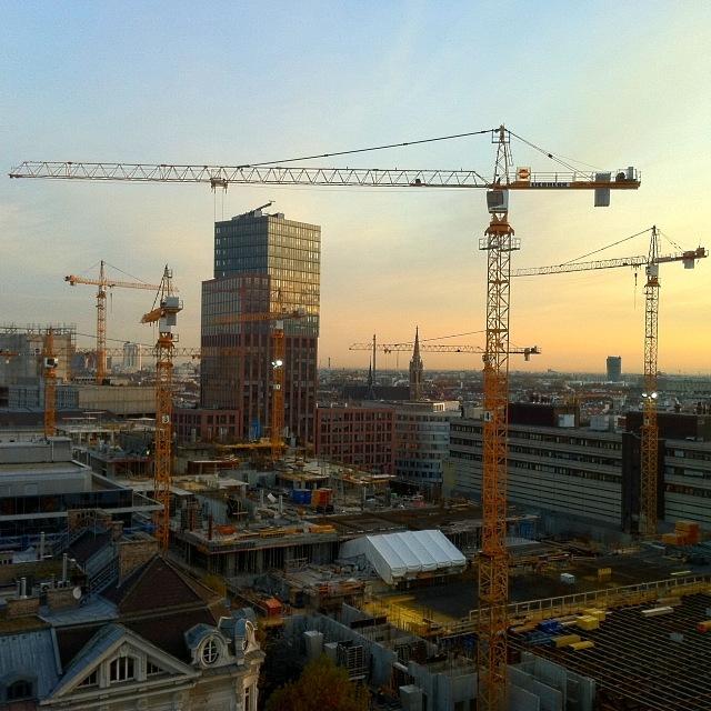 Großbaustelle in Wien Mitte