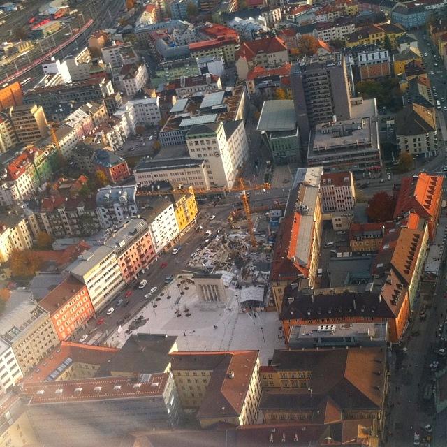 Baustelle am Landhausplatz Innsbruck während der Neugestaltung