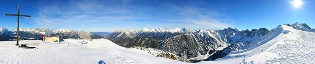 Panorama vom Seefelder Jöchl