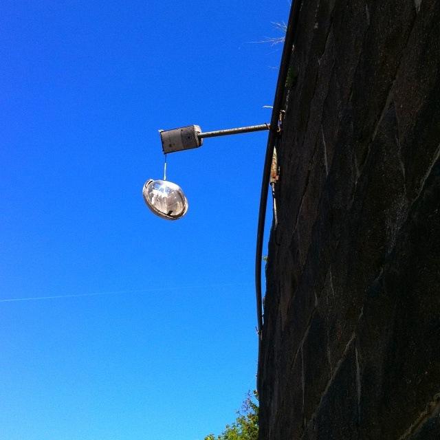 Defekte Straßenbeleuchtung